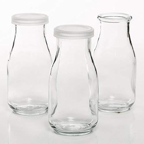 Anchor Hocking Corporation Glass Pint Milk Bottles (Pack of 6) ()