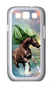 Samsung Galaxy S3 Case and Cover- Young Horse Custom PC Case for Samsung Galaxy S3 / SIII / I9300 White