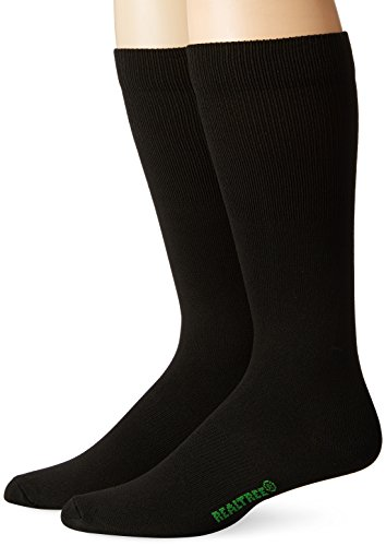 REALTREE Men's Liner Socks Pack (2 Pair), Black, Large