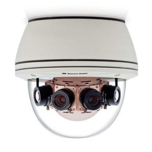 Arecont Vision AV20185DN | 20 Megapixel 180? Panoramic IP Camera, 3.5 fps, Day/Night, 6.2mm f/1.8 IR Lens, IP66, IK-10 Vandal Resistant Dome (Panoramic Vision Inc compare prices)