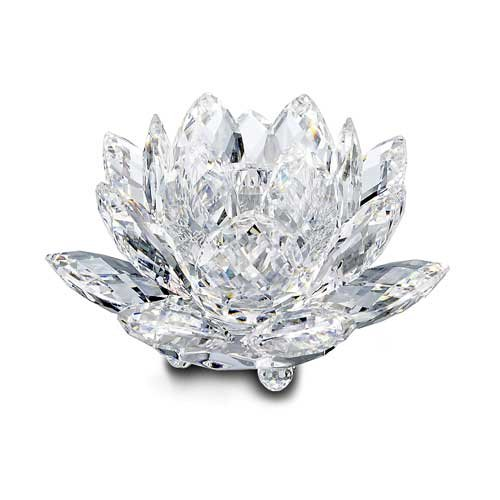 Swarovski Waterlily Candleholder, (Swarovski Medium Flower)