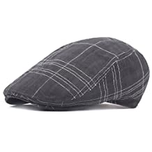ZLSLZ Men's Polyester Cotton Ivy Newsboy Cabbie Gatsby Golf Adjustable Hat Cap