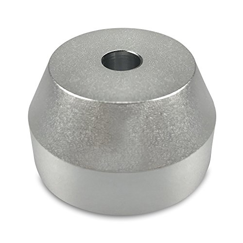 "45 RPM Adapter Solid Aluminum - Perfect Fit for most Vinyl Record Turntables 2.2oz Replaces Standard 7"" Singles Adaptor. For Serious Audiophiles that want to get the Best Sound out ()"