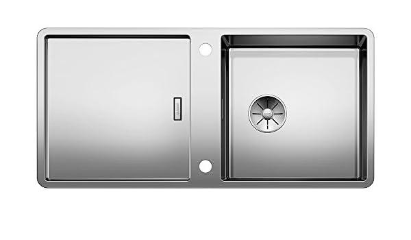 acero inoxidable seda brillo Blanco 521579/Claron Cocina Fregadero empotrable 550/de U de acero inoxidable para fregadero para la cocina
