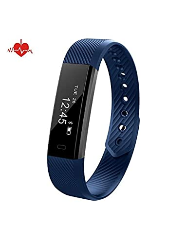 DeYoun Activity Tracker Sleep Monitor Waterproof IP67 Smart Wristband Fitness Tracker with Heart Rate Monitor with Pedometer Step Calorie Tracker for iOS and Android Smartphones blue Estimated Price -