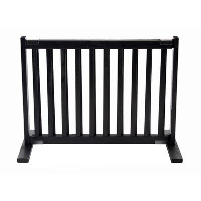 Dynamic Accents All Wood Freestanding Pet Gate Small - Black by Dynamic - Mall Wood Maple