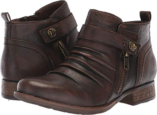 Earth Womens Brook Leather Round Toe Ankle Fashion Boots, Almond, Size 8.0