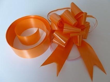 Decorazioni Matrimonio Arancione : Kit decorazione matrimonio per auto colore arancione mm nasto