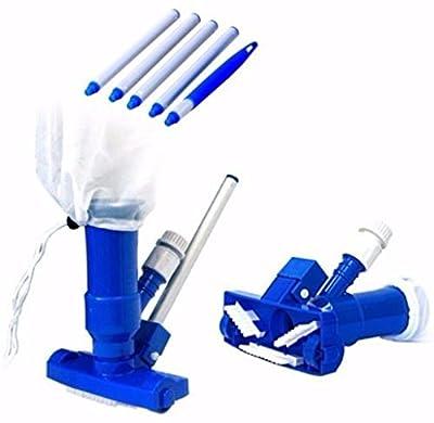 Pool Spa Pond Mini Jet Vac Vacuum Cleaner W/ Brush, Bag, and 4' Pole