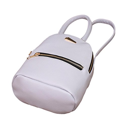 Backpack Bag Pocciol Pink School Travel Gray College Women Satchel Rucksack Bags Leather Shoulder BEcOU1vE