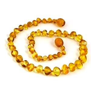"Hazelaid (TM) 12"" Baltic Amber Honey Necklace"