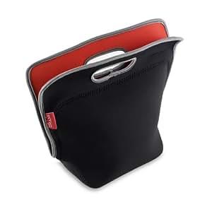Omami Design - Bolsa para la merienda (neopreno), color negro