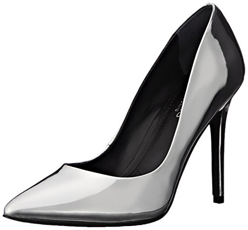Femmes By Charles Metallic Leather Talons Plateau David À Chaussures Silver 4a6TwUq