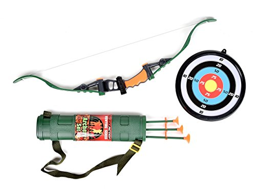 Maxx Action Hunting Series Toy Archery Bow & Arrow Set with Target and Accessories -
