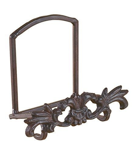 1 X Cast Iron Metal Motif Plate Art Holder Stand Display
