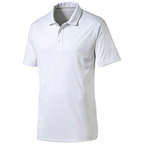 PUMA Golf Mens Cresting ESS Pounce Polo, Bright White, X-Large