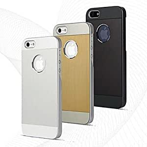 TOPAA ships in 48 hours DSD? Brushed Aluminium Case Cover for iPhone 4/4S (Assorted Colors) , Silver