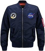 Vogstyle Men's Hip Hop Jacket Air Sky Flight Patch Embroidery Slim Fit Bomber Jac