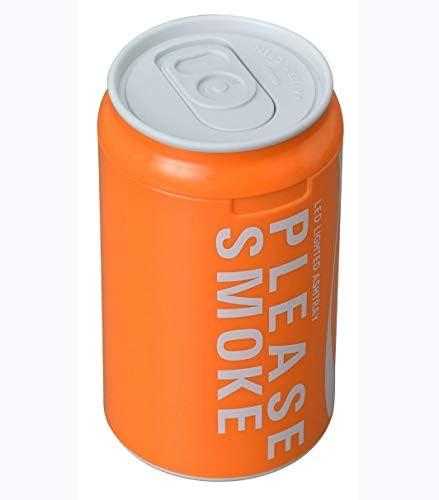 車の車ブルーライト灰皿ルミナスLEDライト飲料缶の形 (Color : Orange)