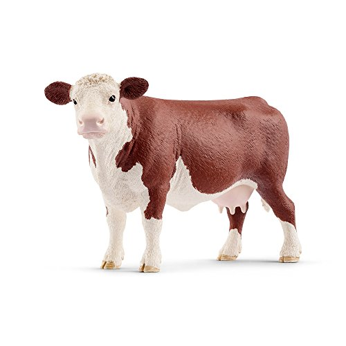 Schleich 13867 Hereford Cow Toy Figurine