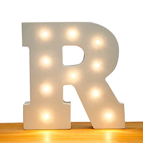 Kerong DIY LED Light up Wooden Alphabet Marquee Letter Lights for Festival Decorative Home Party Wedding Scene Holiday Birthday Christmas Valentine,Battery Operated Warm White (Christmas Lights Letter)