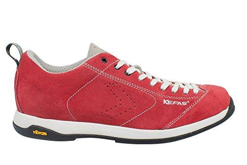 "Kefas - Sneaker scamosciata ""Globelite"" Suola Vibram, vari colori Rosso"