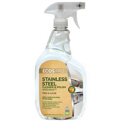 Earth Friendly PL933032 Stainless Steel Cleaner & Polish - 22 Oz