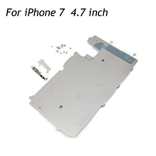 oGoDeal LCD Screen Metal Back Shield Plate Assembly Replacement Compatible for Model iPhone 7 with Small Parts Set