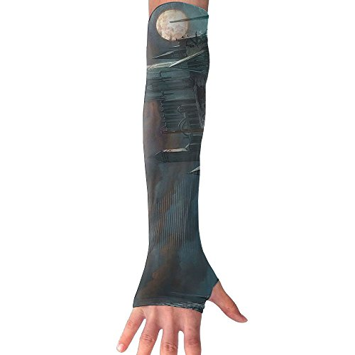 Mossey Raymond UV Protection Cooling Arm Sleeves for Men Women - 1 Pair, Gothic Church by Mossey Raymond