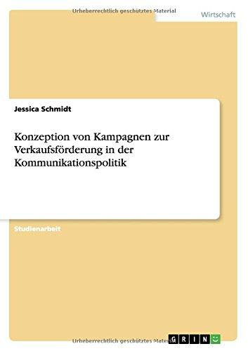 Download Konzeption von Kampagnen zur Verkaufsförderung in der Kommunikationspolitik (German Edition) pdf