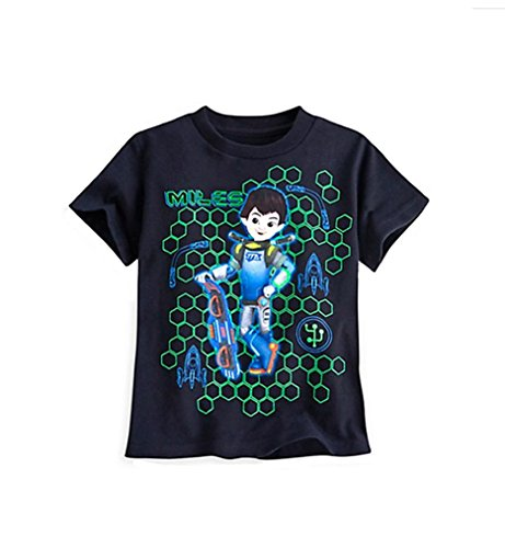 Disney Store Little Boys Miles Tomorrowland Glow in the Dark Tee (XXS-2/3) - Store Mile