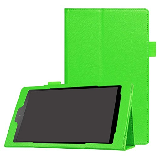 Photo - GBSELL New Folio Case Leather Stand Cover For Amazon Fire HD 8(6th Gen, 2016) (Green)