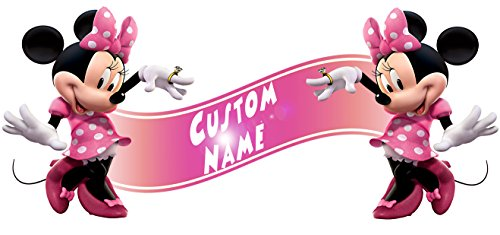 Minnie Mouse Clubhouse Room Decor Wall Banner - Custom Name]()