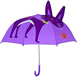 Kids Umbrella, Rainbrace Childrens Rain Umbrella Fashion design for Boys and Girls with 3D Ears, Cat