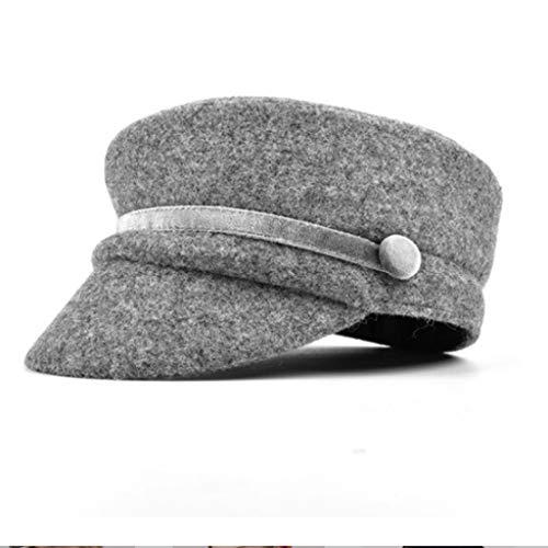 Plana De Pintor Gorra Marea Mujer La Otoño Y Hembra Japones Militar Invierno Coreana Boina Version Moda Lana Gorras Lucky Gray Sombrero Inglaterra Xn6TgZqw