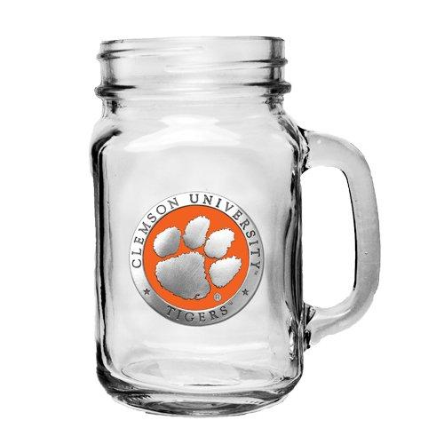 1pc, Pewter Clemson University Mason Jar Mug