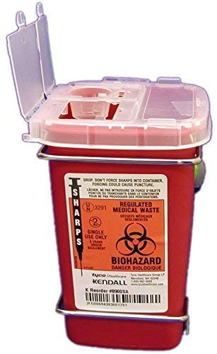 1 Quart Red Phlebotomy Sharps Container Case of 10 by Sharps