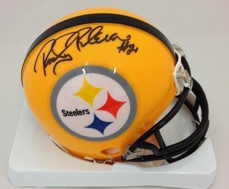 Rocky Bleier Autographed Mini Helmet - 75th Anniversary - Au