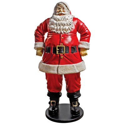 Christmas Decorations - Jolly Santa Claus Figure 6 Foot Tall Holiday Decor Statue (Tall Caroler Figure)