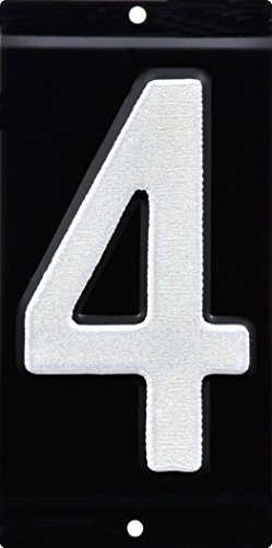 Reflective Inch 3 Number (HIllman 841662 3-Inch Nail-On Aluminum Reflective Mailbox Number 4)