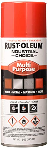 Rust-Oleum 1666830 1600 System Multi-Purpose Enamel Spray Paint, 12-Ounce, Banner Red - Banner System
