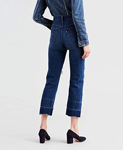 Line Bottom 501 Vintage Blu Clothing Jeans Levi's Cropped qwO4gvB