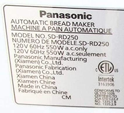 Panasonic Pan eléctrica actualización nuevo diseño Paddle sd-rd250 ...