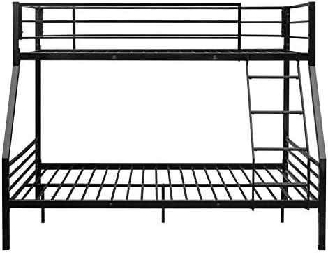 Litera Doble de Metal fácil de Montar, Cama Doble, Escalera de Goma Negra, Marco de Cama Doble Pesado, Escalera Desmontable y rieles de Seguridad: Amazon.es: Hogar