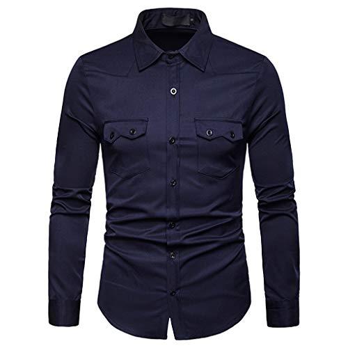 Top Casual Blouse Solide Marine Peinture T Longue Ihengh shirt Men Lattice Taille Homme Manche Grande Chemises RP7wvHxAn