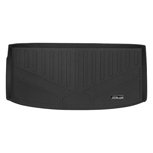 SMARTLINER All Weather Cargo Liner Floor Mat Behind 3rd Row Black for 2018-2019 Chevrolet Traverse
