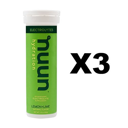 Nuun Lemon Lime Electrolyte Enhanced Drink Tablets(3-Pack of 10 ()