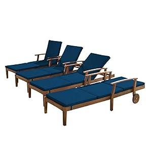 41tPAImh9OL._SS300_ Teak Lounge Chairs & Teak Chaise Lounges