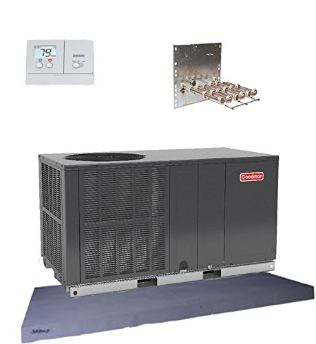 Goodman 3 Ton 14 seer Heat Pump Package Unit GPH1436H41 Prog. Tstat+Equip Pad -