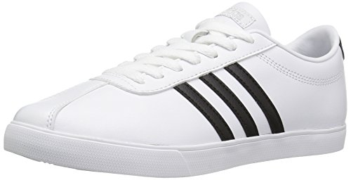 Adidas NEO Women's Courtset W Fashion Sneaker, White/Black/Matte Silver, 8.5 M US